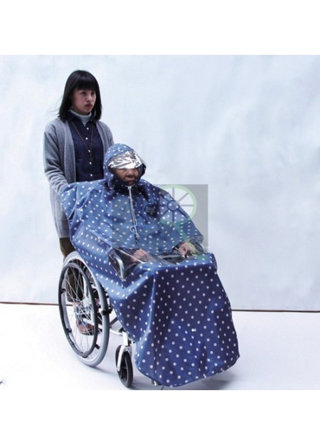 Fashionable wheelchair raincoat